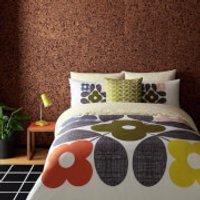 Orla Kiely Placement Flower Tile Duvet Cover - White - Super King - White