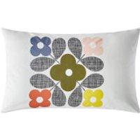 Orla Kiely Placement Flower Tile Pillowcase Pair