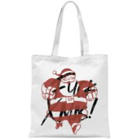 Fuck Xmas With Presents Tote Bag - White - Xmas Gifts