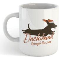Dachshund Through The Snow Mug - Dachshund Gifts