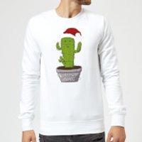Merry Cactus Sweatshirt - White - XXL - White