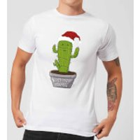 Merry Cactus Men's T-Shirt - White - M - White