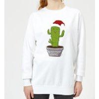 Merry Cactus Women's Sweatshirt - White - XXL - White