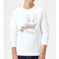 Christmas Rabbit Sweatshirt - White - S - White