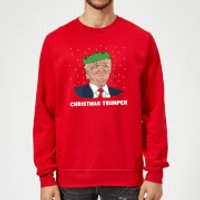 Christmas Trumper Sweatshirt - Red - M - Red