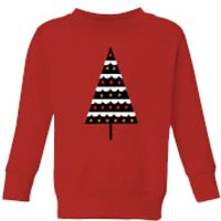 Dark Christmas Tree Kids' Sweatshirt - Red - 3-4 Years - Red