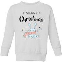 Merry Christmas Rabbit Kids' Sweatshirt - White - 11-12 Years - White