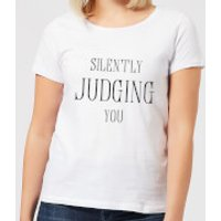 Silently Judging You Women's T-Shirt - White - S - White