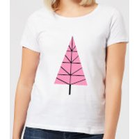 Triangle Christmas Tree Women's T-Shirt - White - 4XL - White