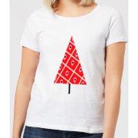 Spotty Christmas Tree Women's T-Shirt - White - L - White