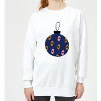 Spotty Bauble Women's Sweatshirt - White - 5XL - White - Spotty Gifts