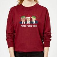 Three 'Wise' Men Women's Sweatshirt - Burgundy - XL - Burgundy