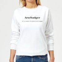 Arsebadger Women's Sweatshirt - White - 5XL - White