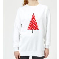 Spotty Christmas Tree Women's Sweatshirt - White - 5XL - White - Spotty Gifts