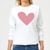Cross Stitch Heart Women's Sweatshirt - White - XL - White
