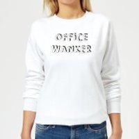 Office Wanker Women's Sweatshirt - White - XXL - White - Office Gifts
