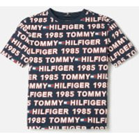 Tommy Hilfiger Boys All Over Print T-Shirt - Blue Allover - 8 Years