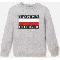 Tommy Hilfiger Boys Essential Long Sleeve T-Shirt - Grey Heather - 8 Years