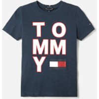 Tommy Hilfiger Boys Logo T-Shirt - Black Iris - 8 Years