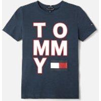 Tommy Hilfiger Boys Logo T-Shirt - Black Iris - 12 Years