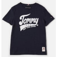 Tommy Hilfiger Boys' Tommy 1985 T-Shirt - Black Iris - 7 Years