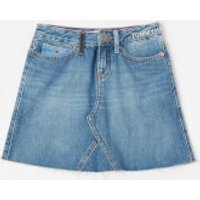 Tommy Hilfiger Girls A Line Skirt - Upcycled Denim - 10 Years