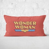 DC Cushions Retro Wonder Woman DC 30x50cm Rectangle Cushion Rectangular Cushion - 30x50cm - Soft Touch - Cushions Gifts