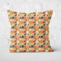 Orange Jurassic Park Square Cushion 40x40cm - 60x60cm - Soft Touch