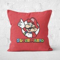 Super Mario Square Cushion - 60x60cm - Soft Touch - Mario Gifts