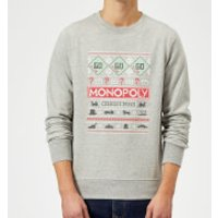 Monopoly Christmas Sweatshirt - Grey - XXL - Grey