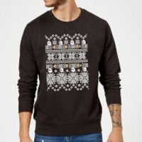 Nintendo Super Mario Retro Boo Christmas Sweatshirt - Black - M - Black