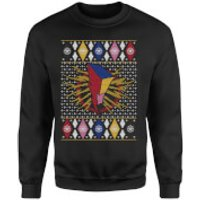 Power Rangers Christmas Sweatshirt - Black - XXL - Black