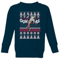 Rick and Morty Ooh Wee Kids' Christmas Sweatshirt - Navy - 3-4 Years - Navy