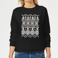 Nintendo Super Mario Retro Boo Women's Christmas Sweatshirt - Black - M - Black