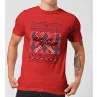 Harley Quinn Men's Christmas T-Shirt - Red - M - Red