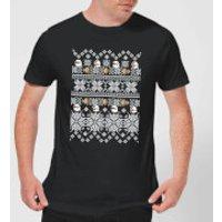 Nintendo Super Mario Retro Boo Men's Christmas T-Shirt - Black - 5XL - Black - Mario Gifts