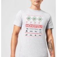 Monopoly Men's Christmas T-Shirt - Grey - L - Grey