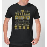 Bumblebee Classic Ugly Knit Men's Christmas T-Shirt - Black - S - Black