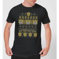 Bumblebee Classic Ugly Knit Men's Christmas T-Shirt - Black - 3XL - Black