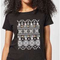 Nintendo Super Mario Retro Boo Women's Christmas T-Shirt - Black - 5XL - Black - Mario Gifts
