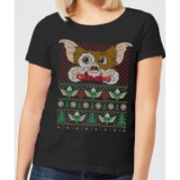 Gremlins Ugly Knit Women's Christmas T-Shirt - Black - S - Black