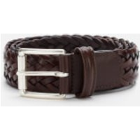 Anderson's Men's Woven Leather Belt - Dark Brown - W32/M