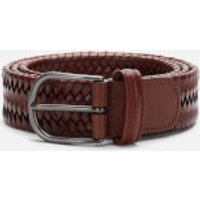 Anderson's Men's Matt Buckle Woven Belt - Brown - W36/XL
