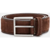 Anderson's Men's Matt Silver Suede Belt - Brown - W34/L