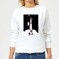 Modern Toss Space Argument Rocket Women's Sweatshirt - White - S - White