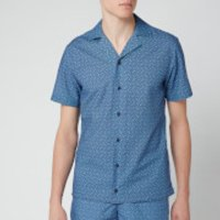 Orlebar Brown Men's Travis Nerano Shirt - Sea Breeze/Navy - XL