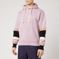 JW Anderson Men's Colour Block Sleeves Hoody - Mauve - XL