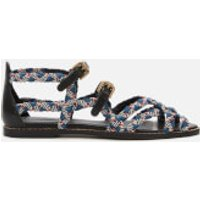 See By Chloe Women's Braidlace Sandals - Red Blue/Black White - UK 4