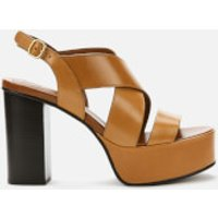 See By Chloe Women's Leather Platform Heeled Sandals - Tan - UK 3