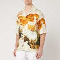 Acne Studios Men's Horse Print Shirt - Cream Multi - S